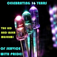 Happy 16th Birthday The LED (and Laser) Museum! (Yes, this website has been online continuously for 16 years!!!)